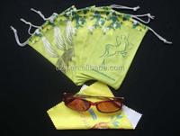 China Supply Sublimation Printing Microfiber Eyeglasses Bag
