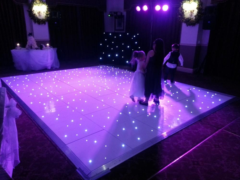Portable Dance Floor With Lights : Portable star light dance floor for event white