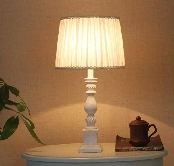 St-1096 Sunbelt Home Goods Table Lamps,White Cloth Art
