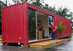 Prefabricated House 40ft Prefab Shipping Container Homes for Sale