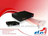 Q11 Sunplus 1512 DVB-S2 Decoder MEPG-4 HD Digital satellite receiver with LAN+HDMI+Scart+CA+2USB WIFI+IKS(CCCAM NEWCAM MGCAM)