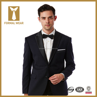 High quality two buttons classic black wedding tuxedo for men