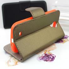 la cartera barata de cuero caja del teléfono para samsung galaxy s5