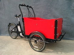 popular front cargo tricycle design for family use