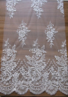 2015 High quality lace styles with beads and sequins for lady garment for dental lace wedding dress