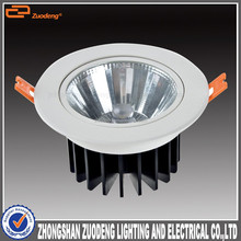 cob 12W 1100lm dimmable 3inch recessed adjustable downlight led 30w