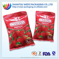 custom waterproof food packaging material candy bag food package