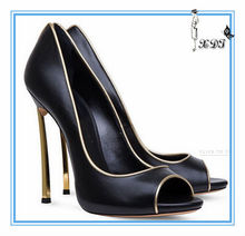 new arrive for women name brand shoes 2014!! sexy fish mouth high heel single shoes !!