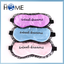 Fancy Custom Lace Embroidery Satin Eye Sleeping Mask Wholesale