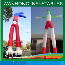 2015 hot sale two legs inflatable air dancer for advertising, sky dancers for promotion, one leg outdoor dancer