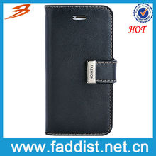 Business black leather phone case for iphone5s 5 with card holder