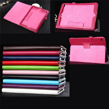 Magnetic Slim PU Leather Case for iPad air 2, Folio Cover Stand for iPad Air 2, Ultra-thin Book Style Smart Cover for iPad 6