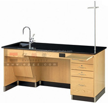 Professional Chemistry Metal Frame Lab Bench with Sink,Physics Acid-resistant Lab Equipment Furniture Metal Frame Lab Bench