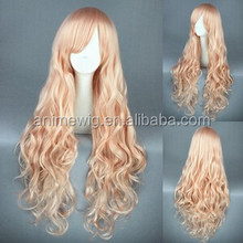 High Quality 80cm Long Wave Macross Series-Sheryl Nome Light Pink Synthetic Anime Wig Cosplay Hair Wig Party Wig