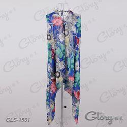 New hot lady girl polyester flower summer wear shawl