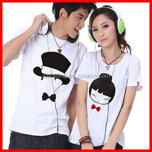 Cartoon custom printing couple t-shirts