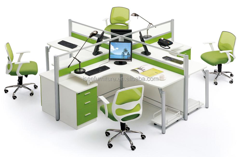 Cabines de bureau rond poste de travail pour 3 personne for Bureau rond 4 personnes