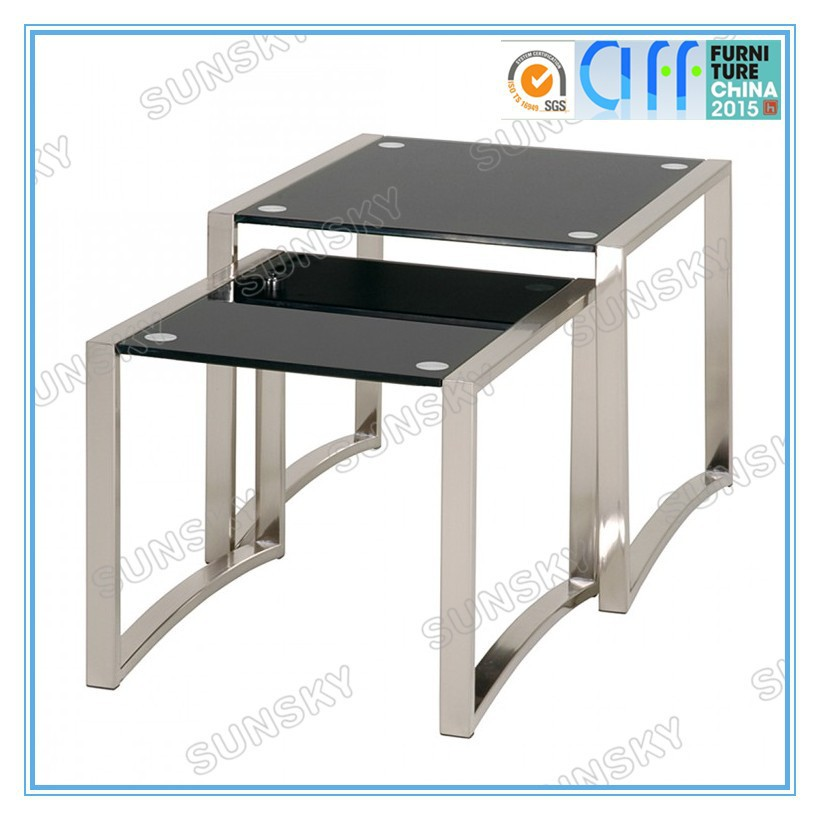 modern tempered glass nesting coffee table 4285 buy