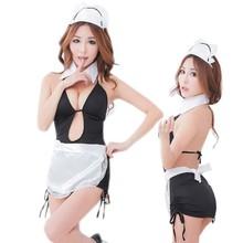 precio barato mujeres lencería sexy trajes de mucama conjunto ropa de dormir