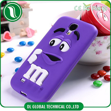 Cute Pattern 3D M&M Rubber Phone Case for Samsung Galaxy S4 Case Silicone Mobile Cover For Samsung S4