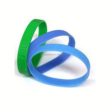 Made in Dongguan Transparent silicone bracelets 2012