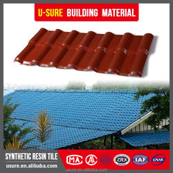 Mobile houses Excellent weather resistant fireproof spanish pvc roof tiles with uv protect/composit resin roofing tile for house