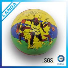yellow cheap basketball in bulk standard size 7 6 5 3