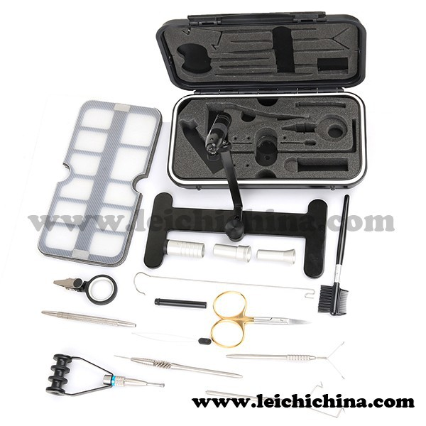 In stock professional travel fly tying kit fishing for Fly fishing tying kit
