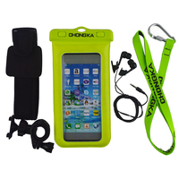 Wholesale PVC waterproof mobile phone pouch with lanyard