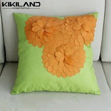 beautiful design 3D floral cushion covers handmade pillow cases