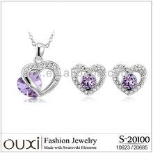 2013 Women body Silver jewelry made with Swarovski elements crystal S-20100
