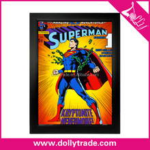 Wholesale Handmade Modern Funny Cartoon Superman Wall Oil Painting