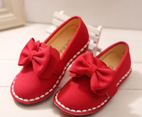 D70428H 2015 Summer fashion girl leather shoes Korean tide Bow girl shoes