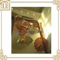 Inicio decoración de la pared del arte de vidrio soplado placas