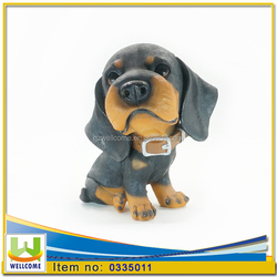 Funny Resin Dog Statues Dogs Rottweiler Puppies