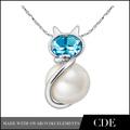 cde caliente de la venta de la perla colgante de gato collar jewle real collar de perlas precio