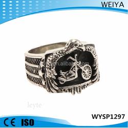 2015 fashion jewelry Wholesale stainless steel fancy bike rings