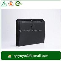 plastic expanding file folder elastic closure accordion folder pp/pvc partition folder