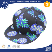 New fashion pineapple printing design man caps for sale