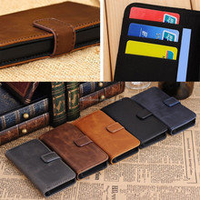 Card Holder Flip Wallet Leather Case Cover For S4 S5 Note 4 3 2