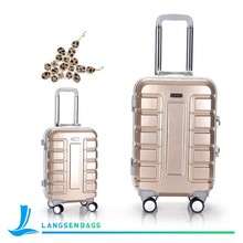 2015 New style suitcase travel trolley bag for women