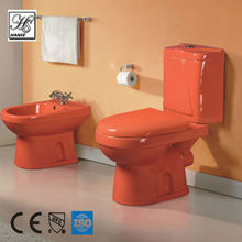 HS-8072A western toilet in red color