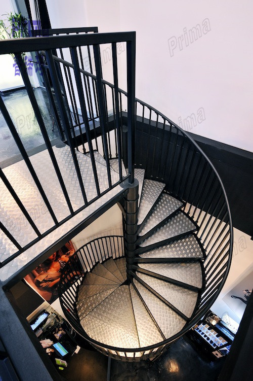 Outdoor stairs galvanized stair treads wrought iron spiral - Spiral staircase wrought iron ...