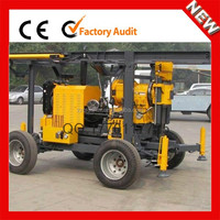 Mobile Soil investigation drilling machine with hydraulic drilling tower