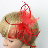 Ladies Big Red Bowknot Fascinators For Party/Wedding With Net