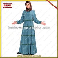 2014 newly designed Arabic women garments Islamic women Abaya with good fabirc at low price