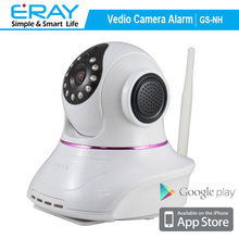 Plug and play easy operation wireless/wired WiFi IP camera+home burglar alarm system