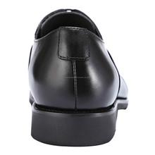 Nueva llegada Confort hombres del cuero genuino zapatos de vestir para hombre con cordones de los holgazanes - Negro