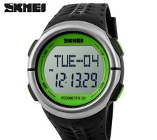 SKMEI Men's fashion watch, waterproof outdoor sports diving watch, pacing the heart rate electronic digital reloj hombre watch