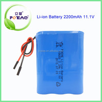 Customized Rechargeable 12v 2200mAh li-ion battery pack for led light and toys